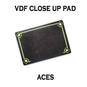 VDF Close Up Pad with Printed Aces (Black) by Di Fatta Magic - Trick