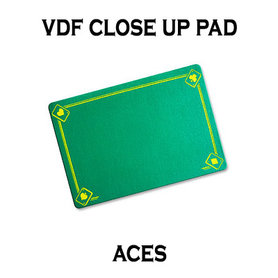VDF Close Up Pad with Printed Aces (Green) by Di Fatta Magic - Trick
