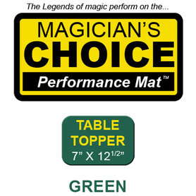 Table Topper Close-Up Mat (GREEN - 7x12.5) by Ronjo - Trick