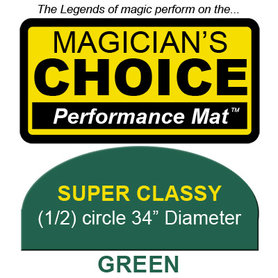 Super Classy Close-Up Mat (GREEN - 34 inch) by Ronjo - Trick