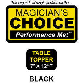 Table Topper Close-Up Mat (BLACK - 7x12.5) by Ronjo - Trick