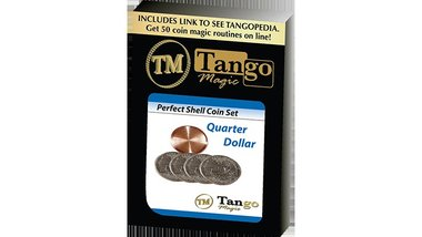 Perfect Shell Coin Set Quarter Dollar (Shell and 4 Coins D0200) by Tango Magic - Trick