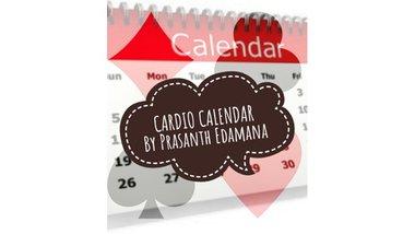 Cardio Calendar by Prasanth Edamana Mixed Media DOWNLOAD