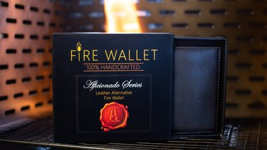 The Aficionado Fire Wallet (Gimmick and Online Instructions) by Murphy's Magic Supplies Inc.  - Trick