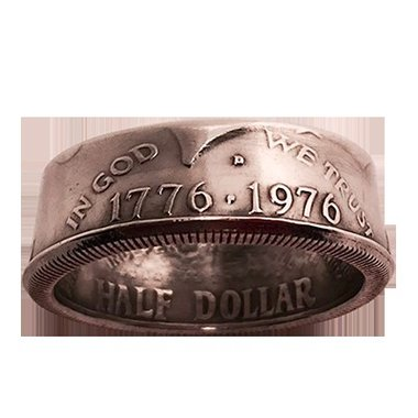 Genuine Half-Dollar Ring (8.5/18.53 mm)By Diamond Jim Tyler - Trick