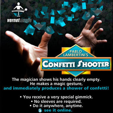 Confetti Shooter by Vernet Magic - Trick
