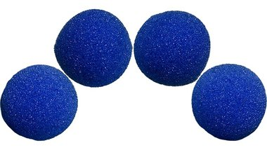 1.5 inch Super Soft Sponge Balls (Blue) Pack of 4 from Magic by Gosh
