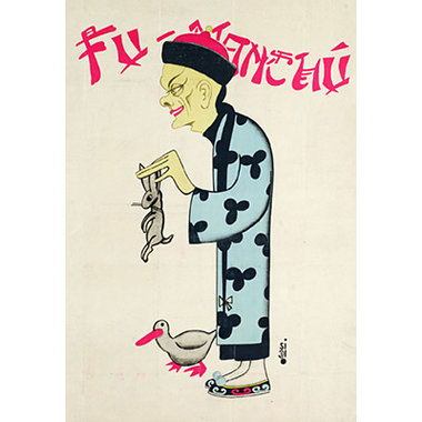 Fu Manchu Rabbit Poster (18 inch by 24 inch) by Bazar de Magia - Trick