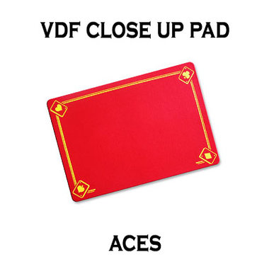 VDF Close Up Pad with Printed Aces (Red) by Di Fatta Magic - Trick