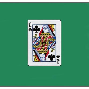 12 inch Card Silk - Queen Of Clubs by Vincenzo Di Fatta