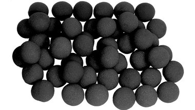 2 inch Super Soft Sponge Ball (Black) Bag of 50 from Magic by Gosh