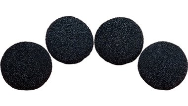 1 inch Regular Sponge Ball (Black) Pack of 4 from Magic by Gosh