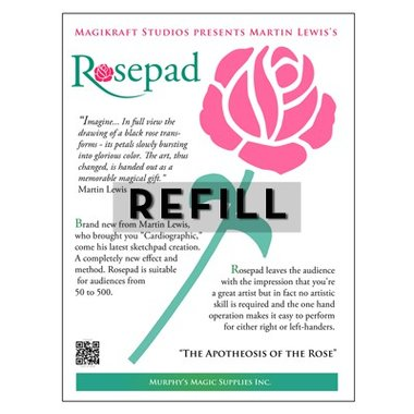 The Rose Pad REFILL by Martin Lewis - Trick