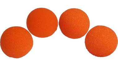 1.5 inch Super Soft Sponge Balls (Orange) Pack of 4 from Magic by Gosh