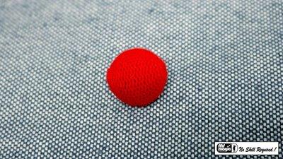 Crochet Ball 1 inch Single (Red) by Mr. Magic - Trick