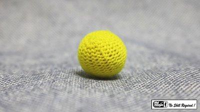 Crochet Ball .75 inch Single (Yellow) by Mr. Magic - Trick