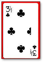 3 1/2 Clubs Cards(1 card= 1unit) Royal