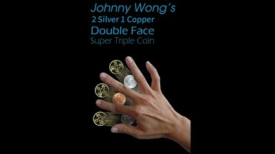 2 Silver 1 Copper Double Face Super Triple Coin (with DVD) by Johnny Wong  - Trick