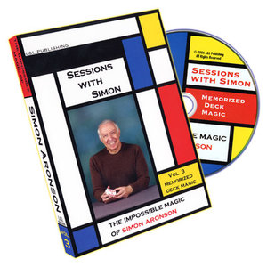 Sessions With Simon: The Impossible Magic Of Simon Aronson Volume 3 (Memorized Deck) - DVD